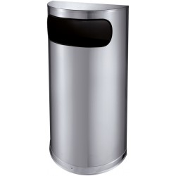Halfronde afvalbak met zijopening 35 liter