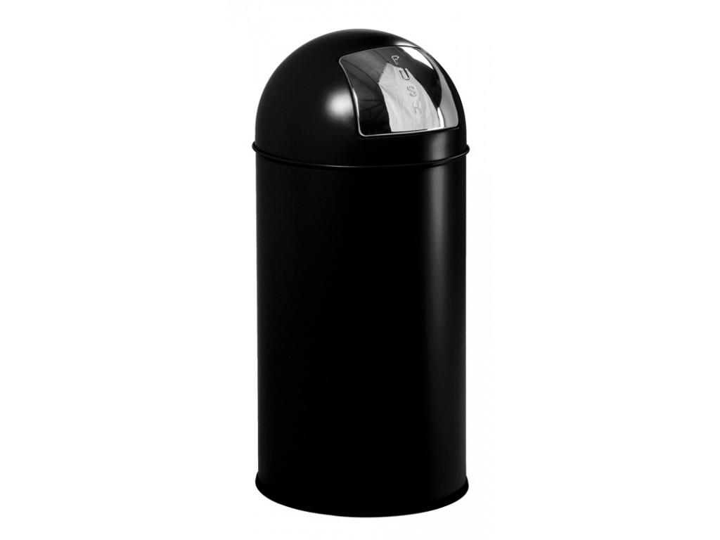 EKO Pushcan 40 liter zwart