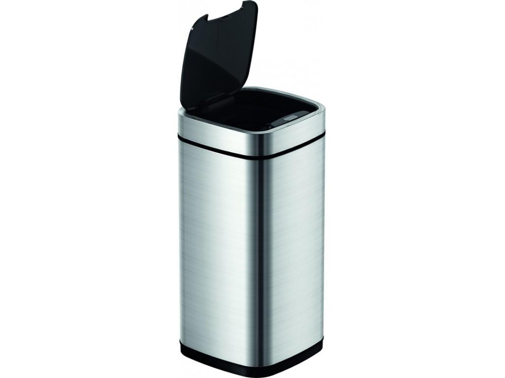 Afvalbak EKO touch deksel 50 liter mat zwart