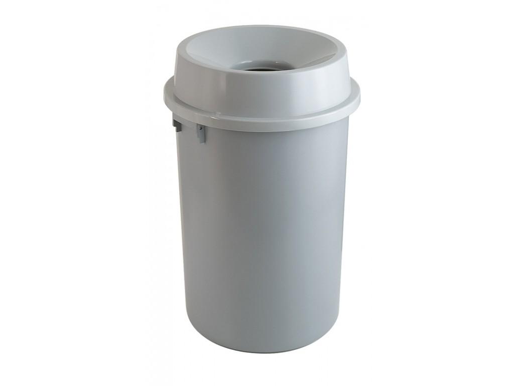 Kunststof afvalbak 90 liter met open top grijs