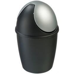 Tafelafvalbakje Tiglio zwart/zilver | Ø 140 x H 220 mm.