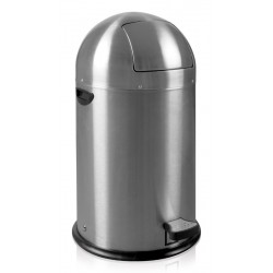 Kickcan Pedaalemmer 33 liter EKO mat RVS
