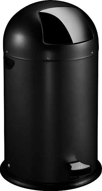 Eko Kickcan 33 Liter Rood.Eko Pedaalemmer Kickcan Zwart 33 Liter