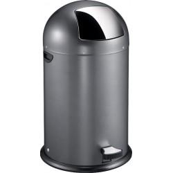 Eko Pedaalemmer Kickcan 40 liter grijs