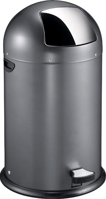 Eko Kickcan 33 Liter Rood.Eko Pedaalemmer Kickcan Grijs 40 Liter