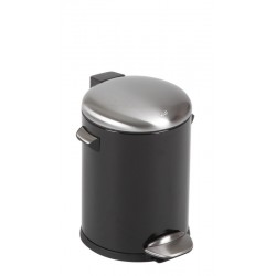 Eko Pedaalemmer Belle Deluxe 5 liter zwart, mat RVS