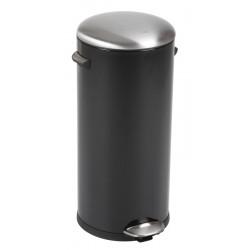 Eko Pedaalemmer Belle Deluxe 30 liter zwart, mat RVS