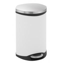 Eko pedaalemmer Shell Bin 18 liter wit, mat RVS