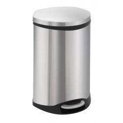 Eko pedaalemmer Shell Bin 18 liter mat RVS
