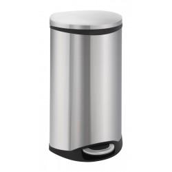 Eko pedaalemmer Shell Bin 30 liter mat RVS