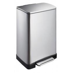 Eko pedaalemmer E-Cube 40 liter mat RVS