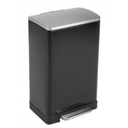 Eko pedaalemmer E-Cube 40 liter zwart