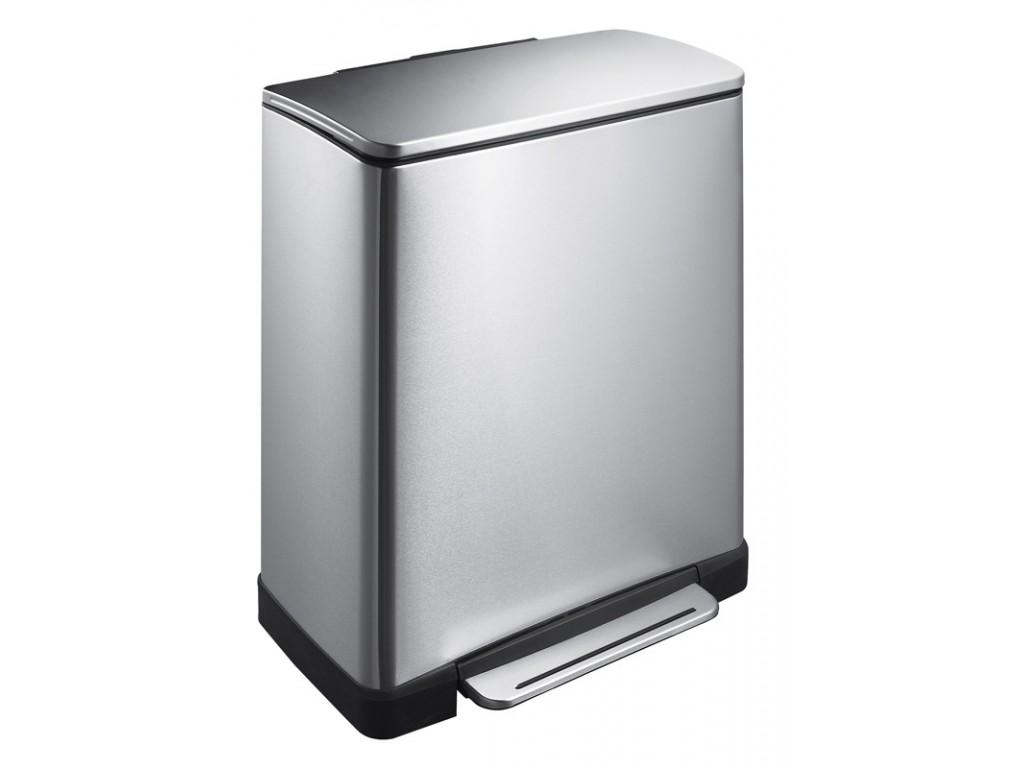 Eko pedaalemmer E-Cube 50 liter mat RVS