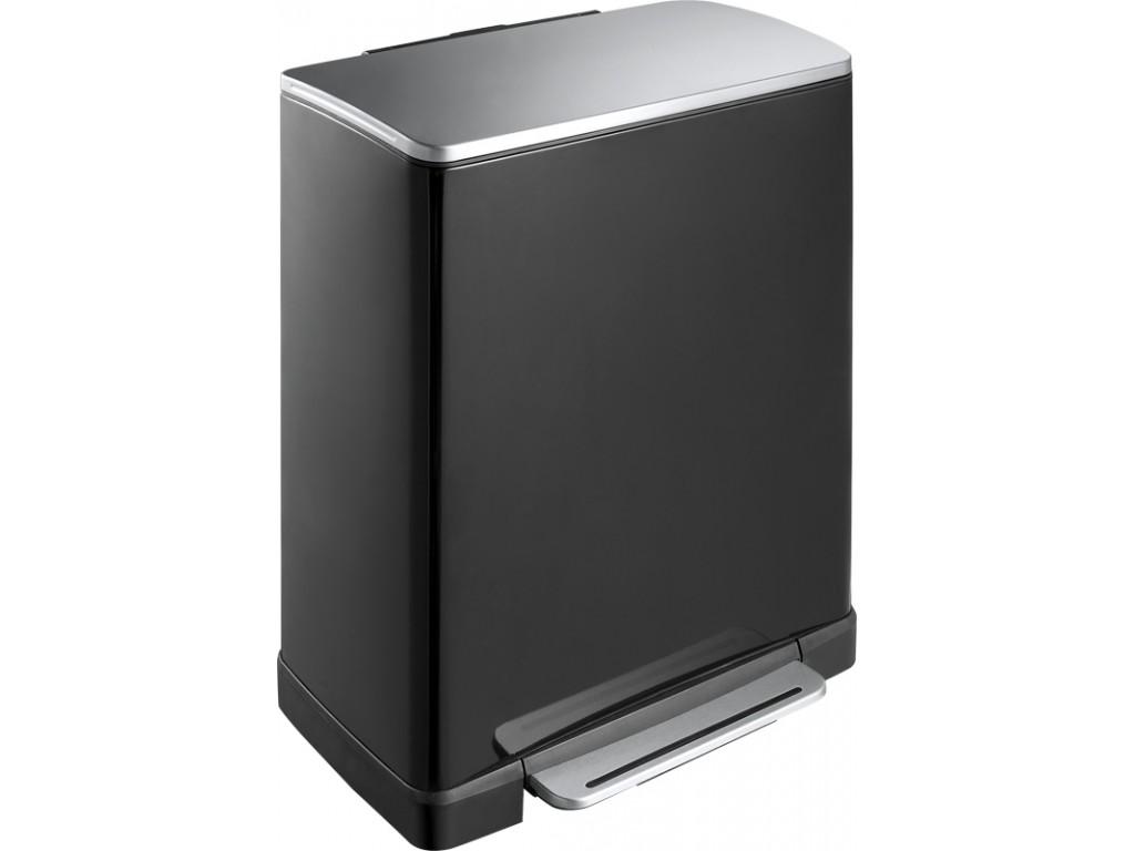 Eko pedaalemmer E-Cube recycling 28 + 18 liter zwart