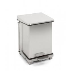 Industriële pedaalemmer 27 liter mat RVS