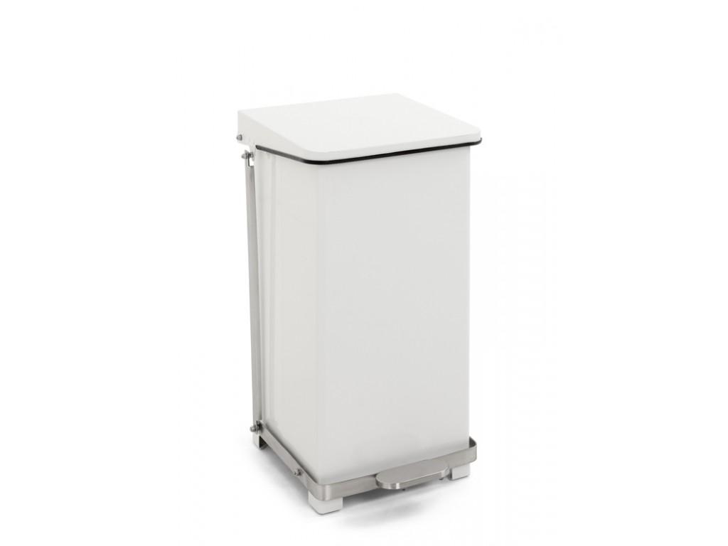 Industriële pedaalemmer 45 liter wit