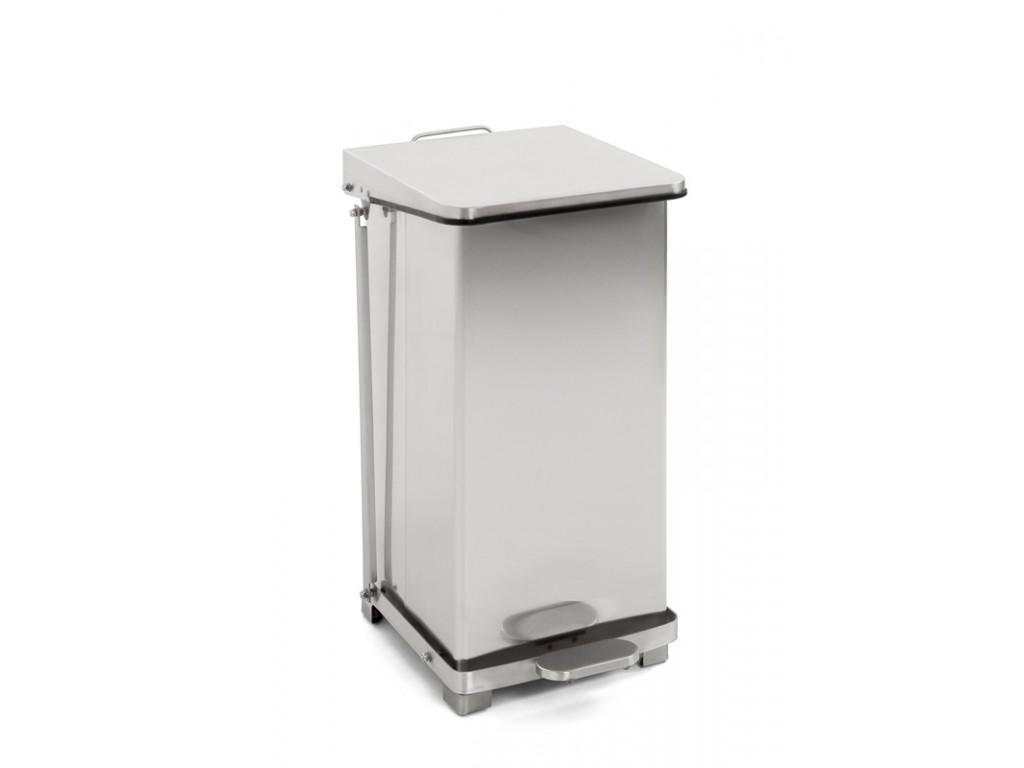 Industriële pedaalemmer 45 liter mat RVS