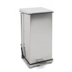 Industriële pedaalemmer 90 liter mat RVS