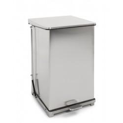 Industriële pedaalemmer 152 liter mat RVS
