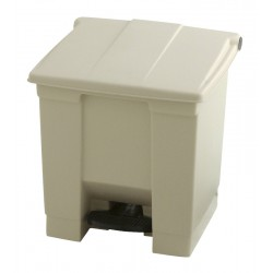 Rubbermaid container met pedaal Step-On 30.3 liter beige