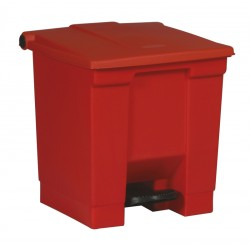 Rubbermaid container met pedaal Step-On 30.3 liter rood