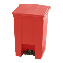 Rubbermaid container met pedaal Step-On 45.4 liter rood