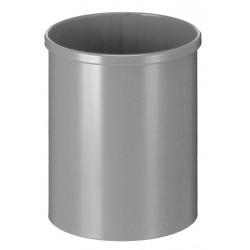 Metalen papierbak rond 15 liter aluminium