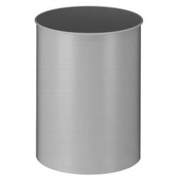 Metalen papierbak rond 30 liter aluminium