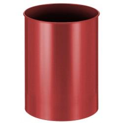 Metalen papierbak rond 30 liter rood
