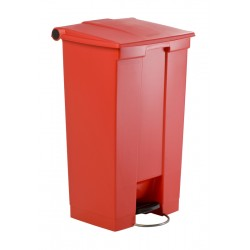 Rubbermaid container met pedaal Step-On 87 liter rood