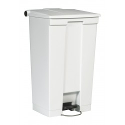Rubbermaid container met pedaal Step-On 87 liter wit