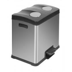 Eko pedaalemmer Rejoice Recycling 2 x 12 liter mat RVS