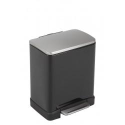 Eko pedaalemmer E-Cube recycling 10 + 9 liter zwart