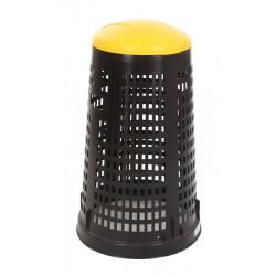 Ruff afvalzakhouder 110 liter zwart, geel