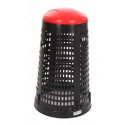Ruff afvalzakhouder 110 liter zwart, rood