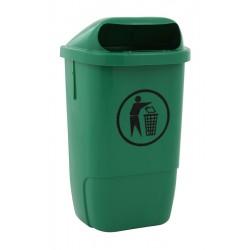 Kunststof buitenafvalbak 50 liter groen