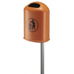 Buitenafvalbak 45 liter oranje