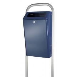 Buitenafvalbak 50 liter blauw