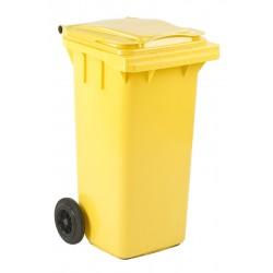 Mini-container 120 liter geel