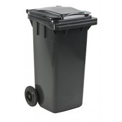 Mini-container 120 liter grijs