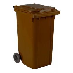 Mini-container 240 liter bruin