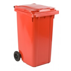 Mini-container 240 liter rood