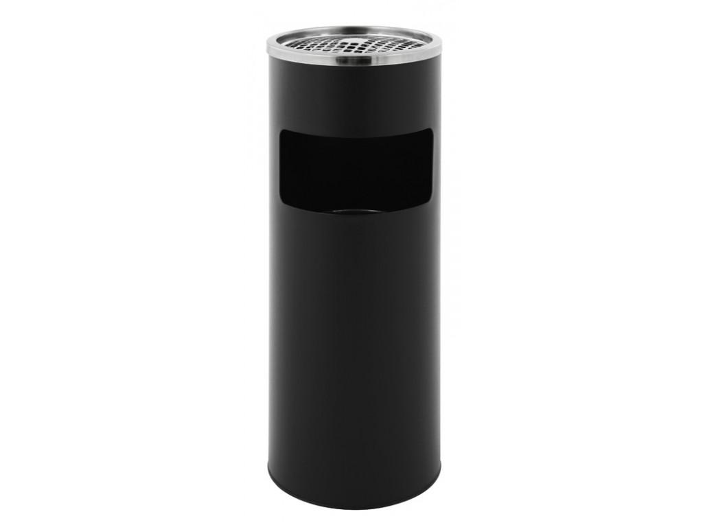 Ronde as-papierbak mat zwart