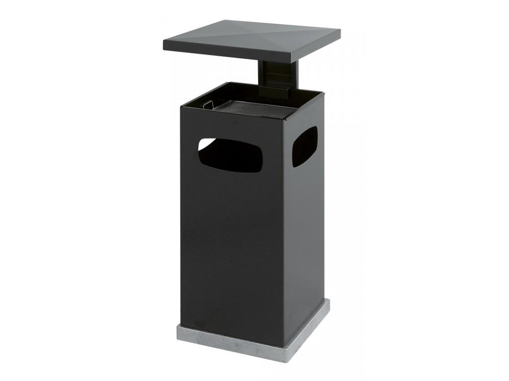 As-papierbak met afneembaar dak 70 liter antraciet