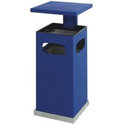 As-papierbak met afneembaar dak 70 liter blauw
