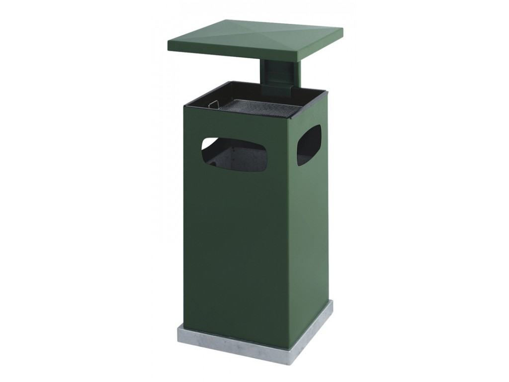 As-papierbak met afneembaar dak 70 liter groen
