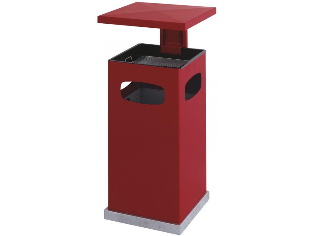 As-papierbak met afneembaar dak 70 liter rood