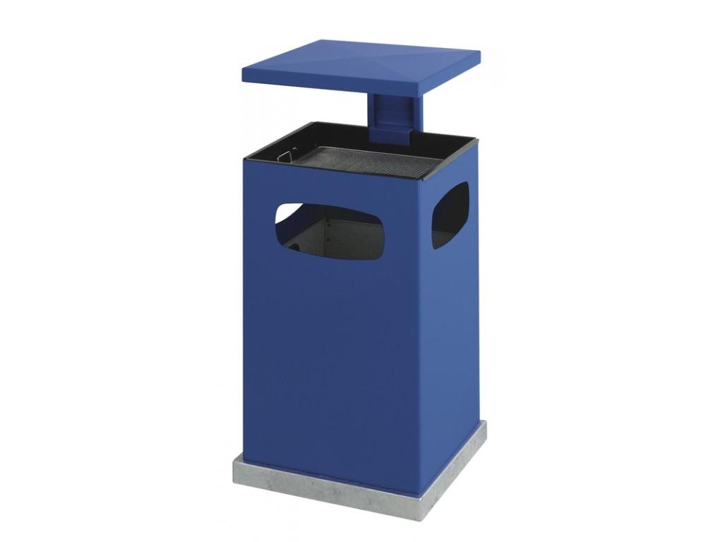 As-papierbak met afneembaar dak 80 liter blauw
