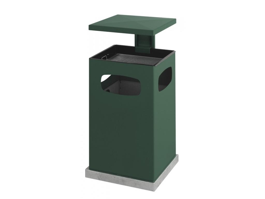 As-papierbak met afneembaar dak 80 liter groen